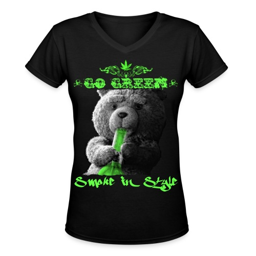 Go Green 2 - Women's V-Neck T-Shirt