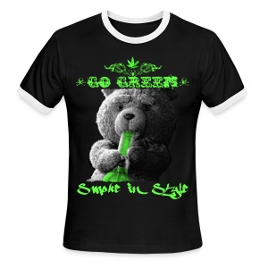 Go Green 2 - Men's Ringer T-Shirt