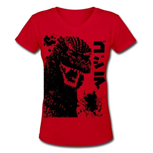 Dino - Women's V-Neck T-Shirt