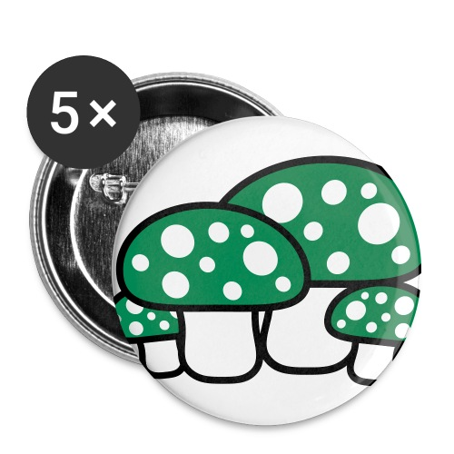 Large Green Mushroom Button - Large Buttons