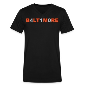 Baltimore 410- Men's black v-neck - Men's V-Neck T-Shirt by Canvas