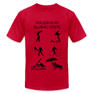 T-Shirts ~ Men's T-Shirt by American Apparel ~ Holidays in Islamic State