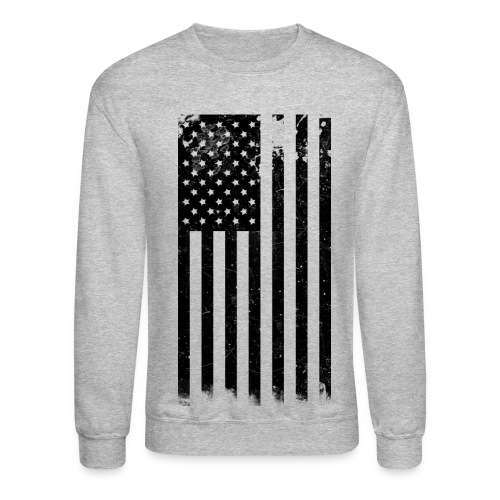 Mens Amercan Flag Sweatdhirt - Crewneck Sweatshirt