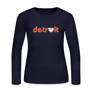 Detroit Baseball Love - Women's Long Sleeve Jersey T-Shirt