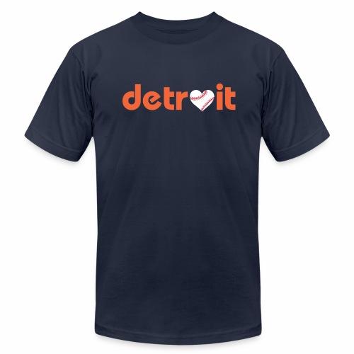 Detroit Baseball Love - Men's Jersey T-Shirt