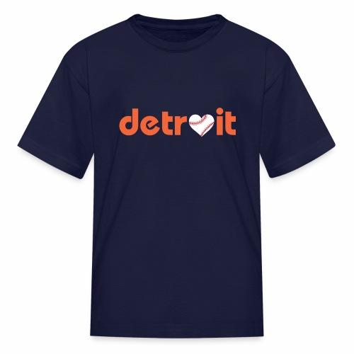 Detroit Baseball Love - Kids' T-Shirt