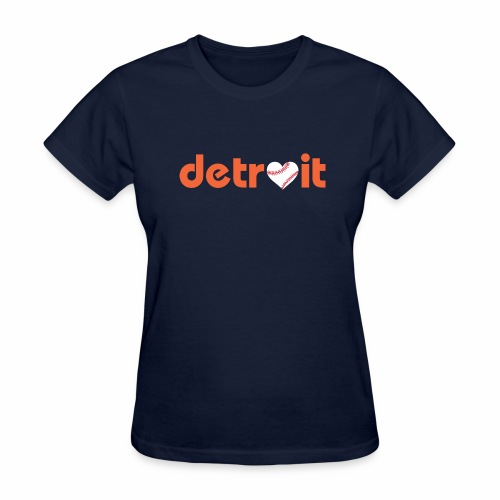 Detroit Baseball Love - Women's T-Shirt