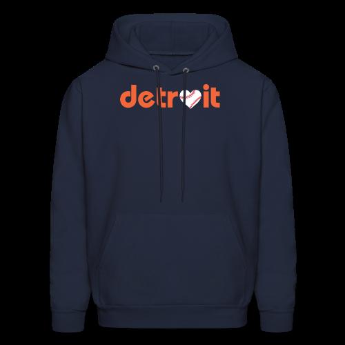 Detroit Baseball Love - Men's Hoodie