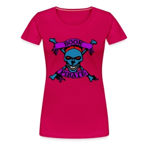 Women's Book Pirate Premium T-Shirt - Women's Premium T-Shirt