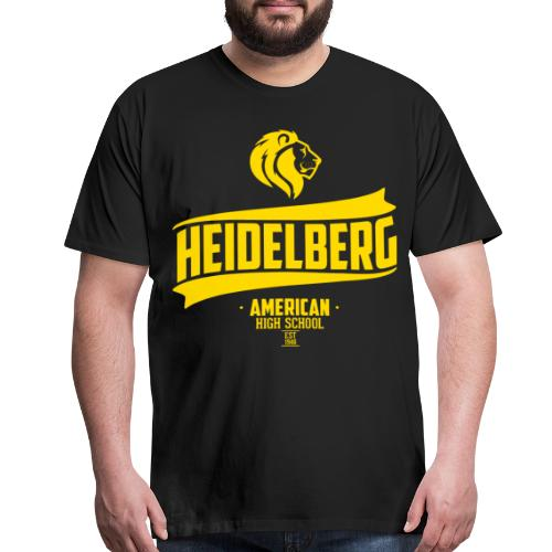 Heidelberg Est Retro Tee - Black - Men's Premium T-Shirt