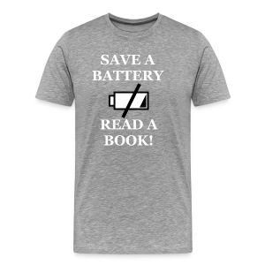Men's Save A Battery Premium T-Shirt - Men's Premium T-Shirt