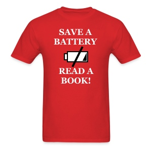 Men's Save A Battery T-Shirt - Men's T-Shirt