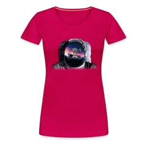 Astronaut Cat  - Women's Premium T-Shirt
