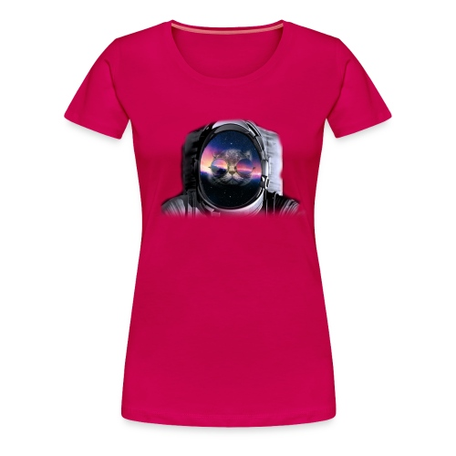 Astronaut Cat  - Women's Premium T-Shirt