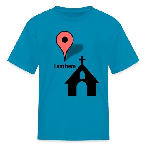 I'm at church - Kids' T-Shirt