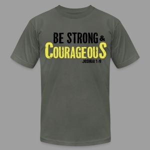 Be Strong and Courageous Joshua 1:9 T-Shirts - Men's Fine Jersey T-Shirt