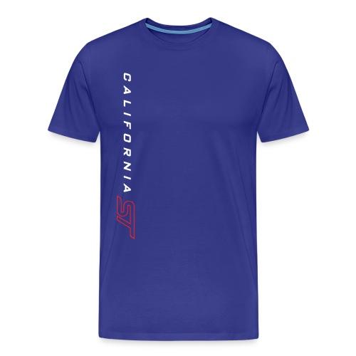 White/Red on Royal Cali ST T-Shirt - Men's Premium T-Shirt