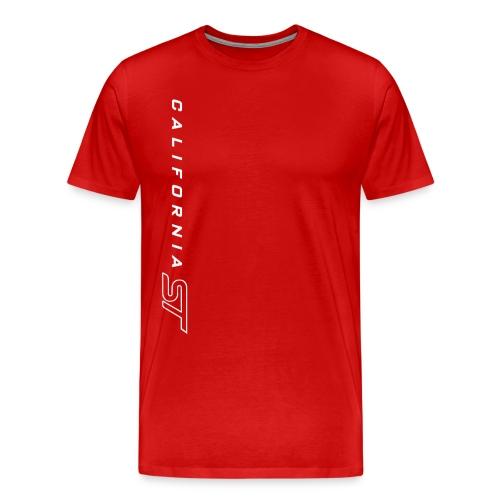 White on Red Cali ST T-Shirt - Men's Premium T-Shirt