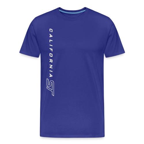 White on Blue Cali ST T-Shirt - Men's Premium T-Shirt