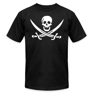 Jolly Roger Pirate - Men's T-Shirt by American Apparel