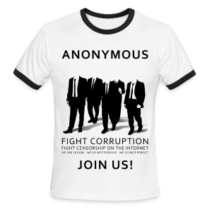 Anonymous 3 - Black - Men's Ringer T-Shirt