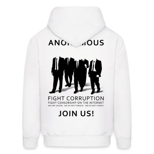Anonymous 3 - Black - Men's Hoodie