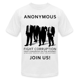 Anonymous 3 - Black - Men's T-Shirt by American Apparel