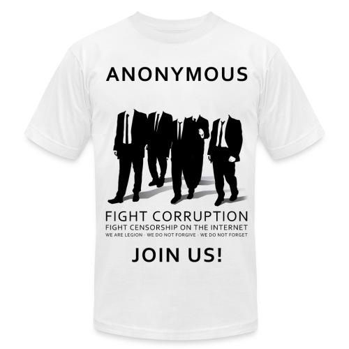 Anonymous 3 - Black - Men's Fine Jersey T-Shirt