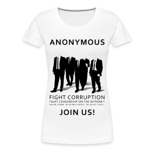 Anonymous 3 - Black - Women's Premium T-Shirt