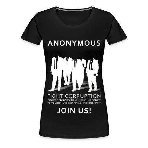 Anonymous 3 - White - Women's Premium T-Shirt
