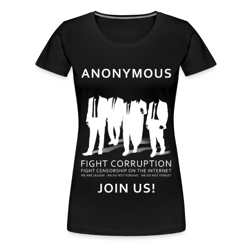 Anonymous 3 - White - Women's Premium T-Shirt
