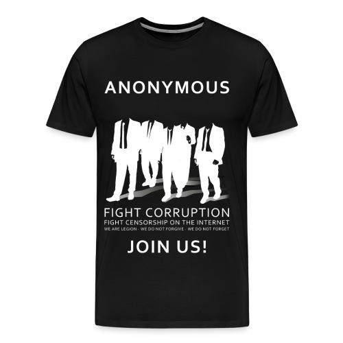 Anonymous 3 - White - Men's Premium T-Shirt