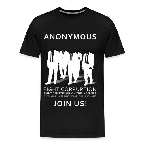 Anonymous 3 - White - Men's Premium T-Shirt