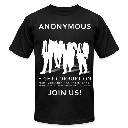 Anonymous 3 - White - Men's Fine Jersey T-Shirt