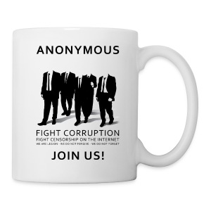 Anonymous 3 - Black - Coffee/Tea Mug