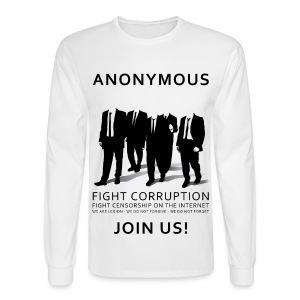 Anonymous 3 - Black - Men's Long Sleeve T-Shirt