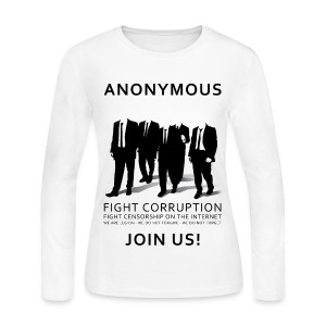 Anonymous 3 - Black - Women's Long Sleeve Jersey T-Shirt