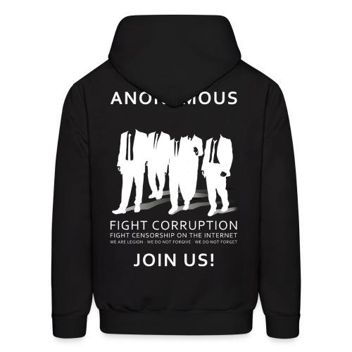 Anonymous 3 - White - Men's Hoodie