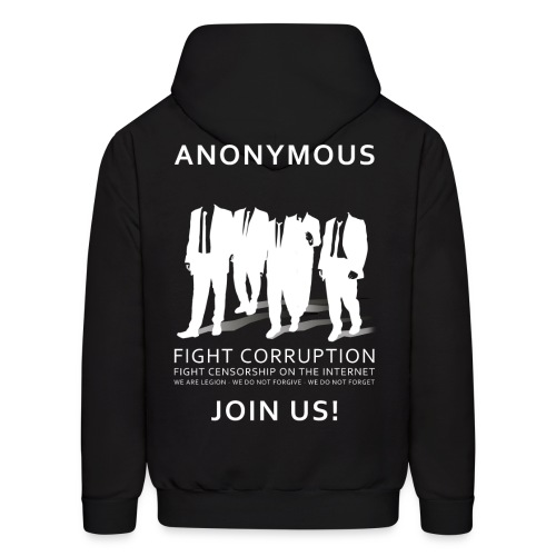 Anonymous 3 - White - Men's Hoodie