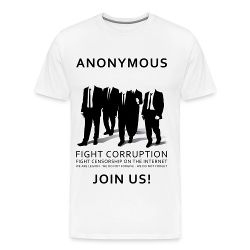 Anonymous 3 - Black - Men's Premium T-Shirt