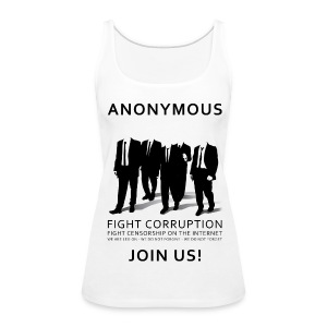 Anonymous 3 - Black - Women's Premium Tank Top