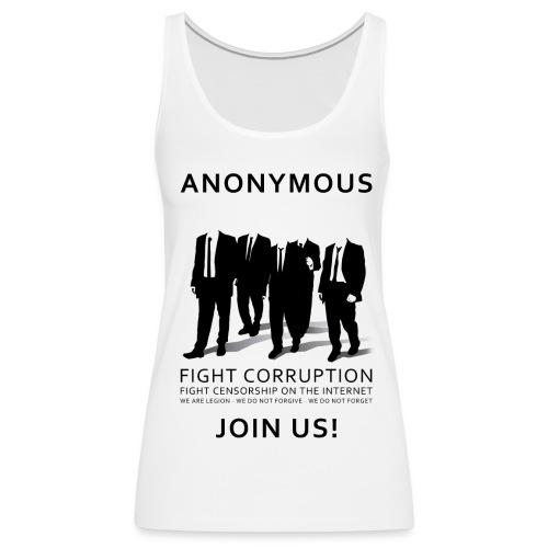 Anonymous 3 - Black - Women's Premium Tank Top