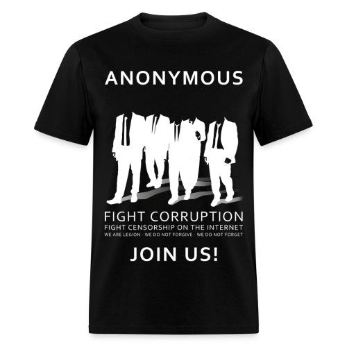 Anonymous 3 - White - Men's T-Shirt