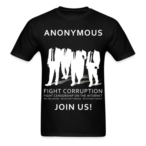 Anonymous 3 - White - Men's T-Shirt