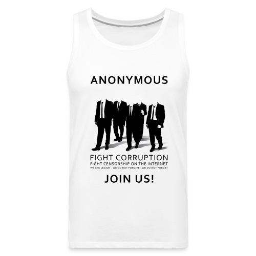 Anonymous 3 - Black - Men's Premium Tank