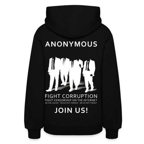 Anonymous 3 - White - Women's Hoodie