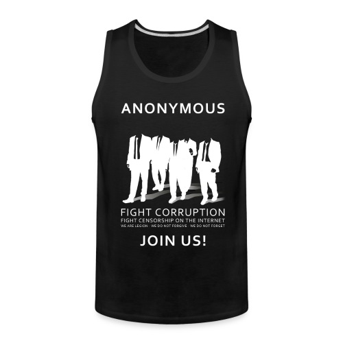 Anonymous 3 - White - Men's Premium Tank