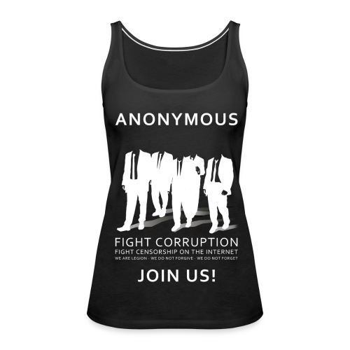 Anonymous 3 - White - Women's Premium Tank Top