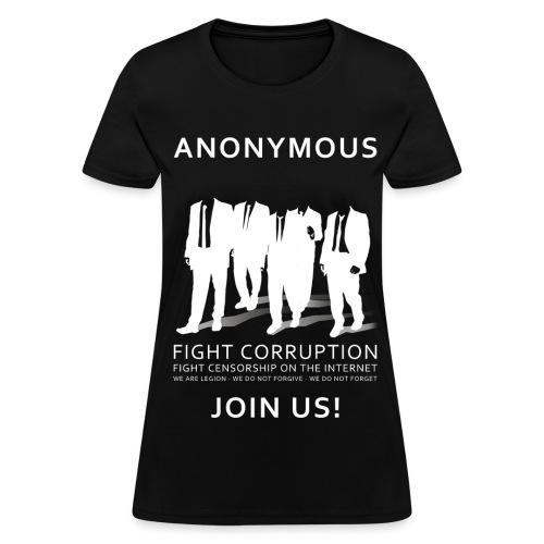 Anonymous 3 - White - Women's T-Shirt