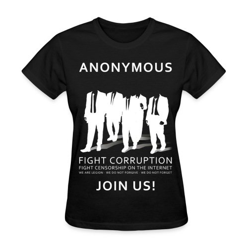 Anonymous 3 - White - Women's T-Shirt